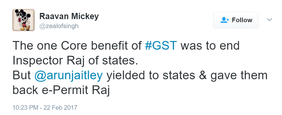 Reactions to e-permit clause in GST