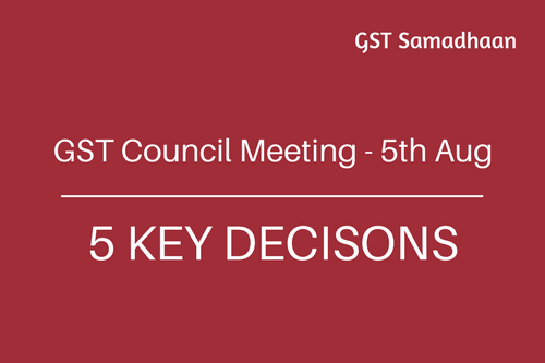 20th GST Council Meeting Summary